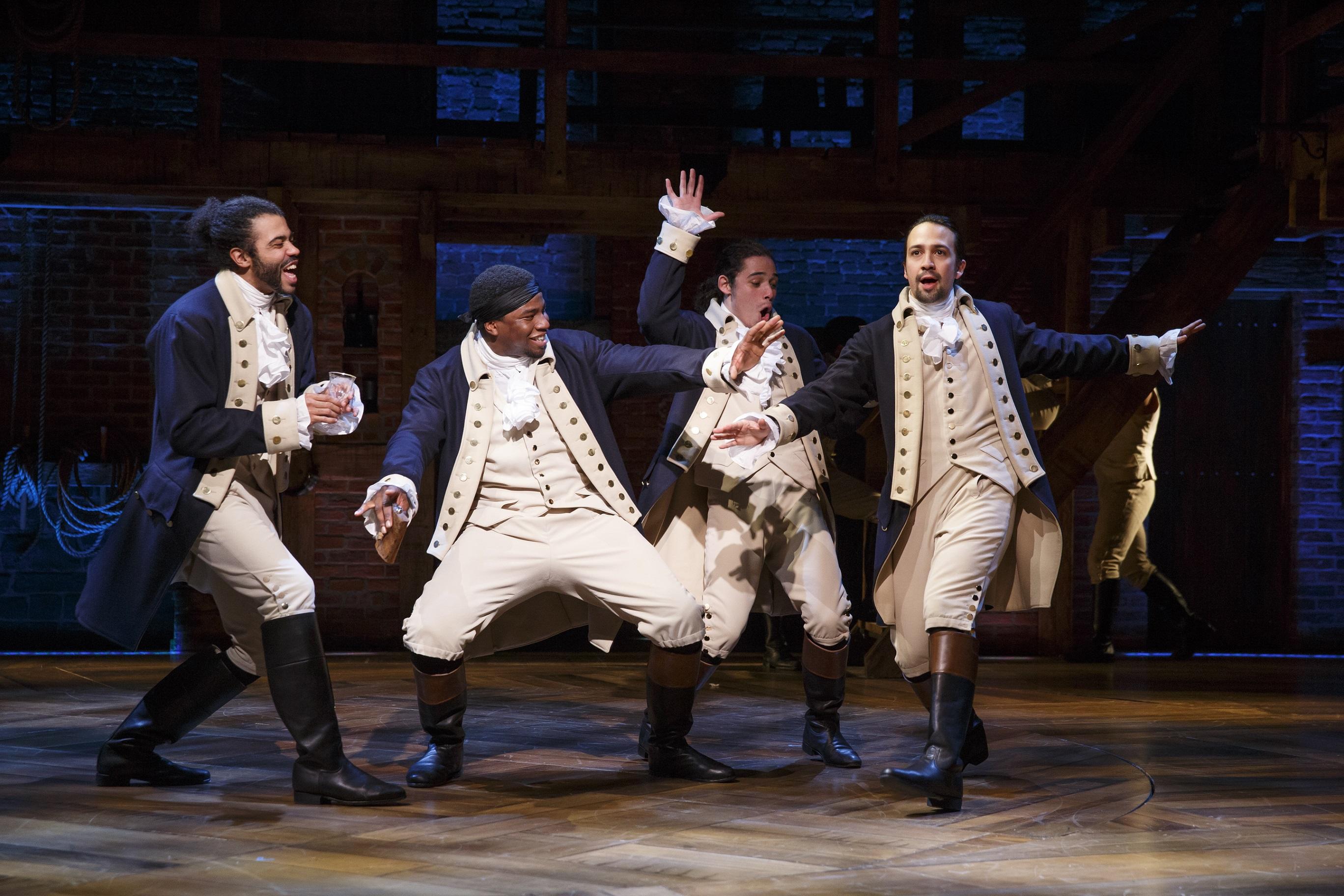 Hamilton, on Broadway. Photo: Joan Marcus
