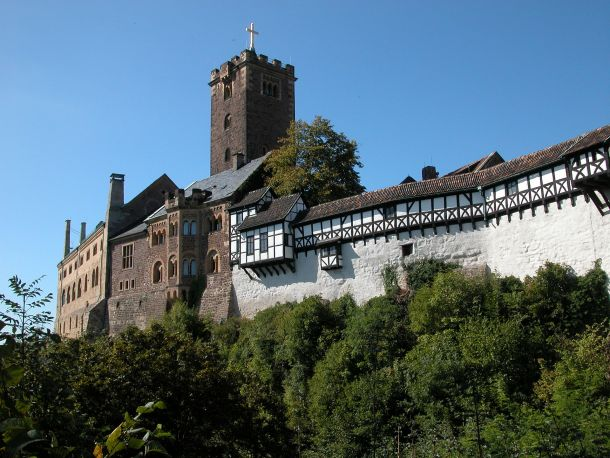 The Wartburg Castle in Thuringia, Germany, dates to 1067.