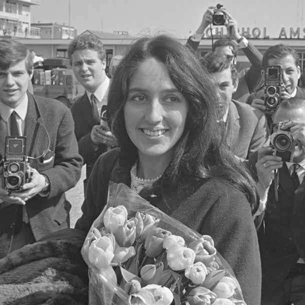 Joan Baez on April 26, 1966.