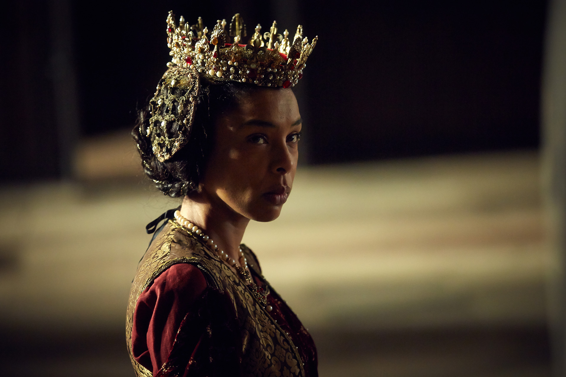 The Hollow Crown: The Wars of the Roses HENRY VI (PART I) Photographer: Robert Viglasky © 2015 Carnival Film & Television Ltd Sophie Okonedo (as MARGARET)