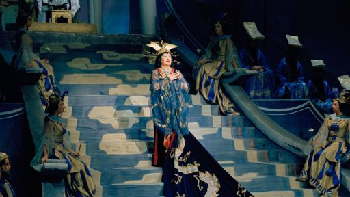 "Birgit Nilsson performing the title role in ""Turandot."" Credit: Courtesy C Major Entertainment"