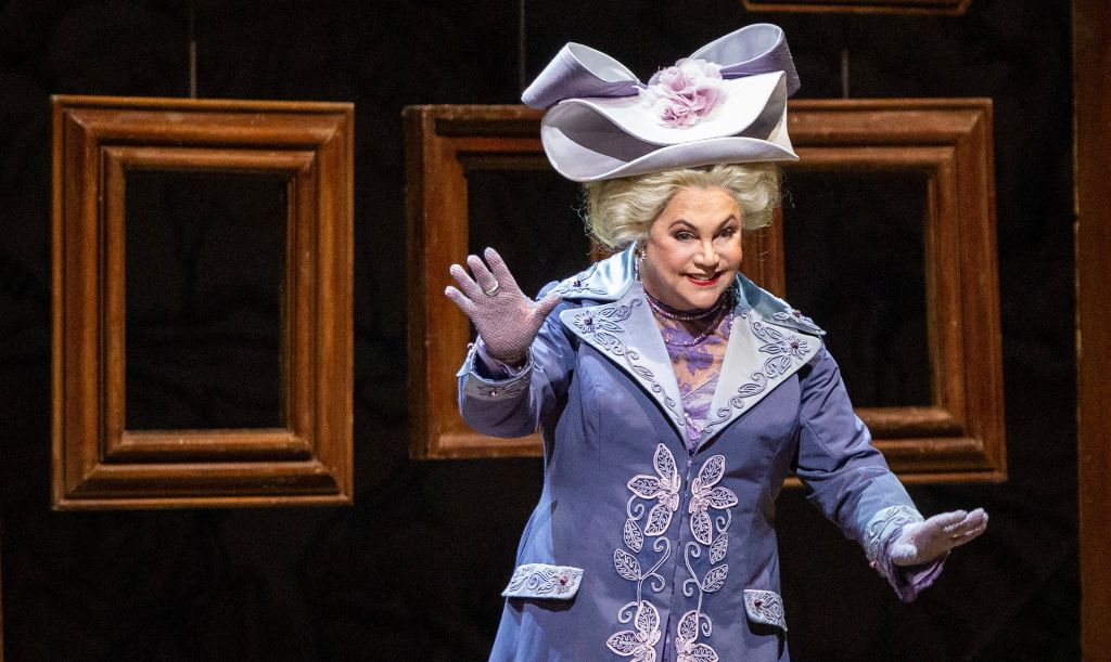 "Kathleen Turner as the Duchess of Krakenthorp in Donizetti's ""La Fille du Régiment."" Photo: Marty Sohl / Met Opera"