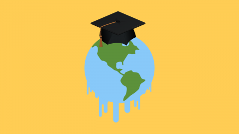 This year's graduating seniors are handing the mic to climate change