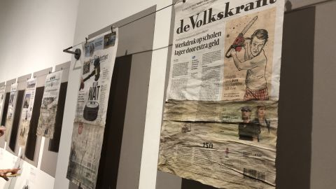 "Climate change takes the front page in immersive art exhibit ""Flood the News"""