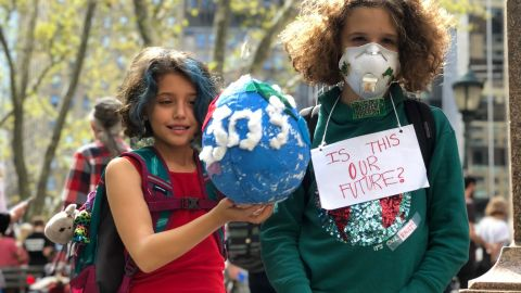 Images from New York City's Global Climate Strike