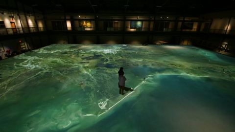 A 10,000-square-foot replica of the Mississippi Delta gives insights on climate resiliency