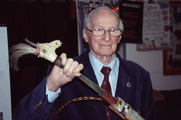 WWII veteran Sergeant Jack Tredrea, one of the Australian Commandoes of Semut 1, Z Special Unit led by Major Tom Harrison to rescue downed airmen in Borneo. Tredrea lead and trained guerilla forces to fight against the Japanese.