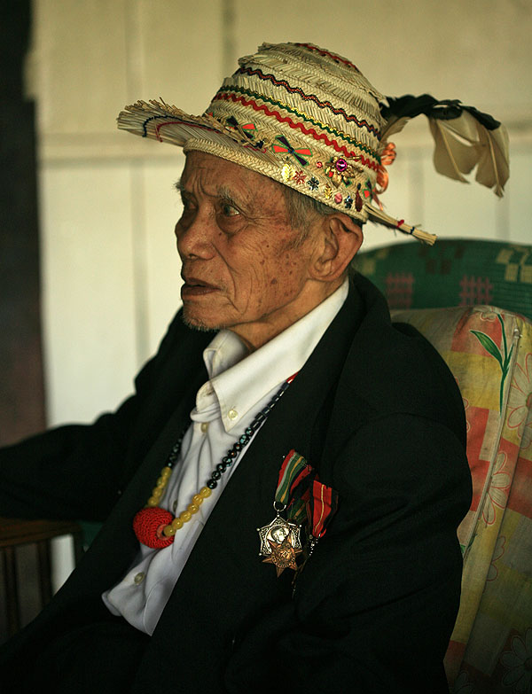 Melayung Ulun, one of the Dayak tribesmen and Major Tom Harrison's assistant who helped rescued the downed American airmen during WWII.