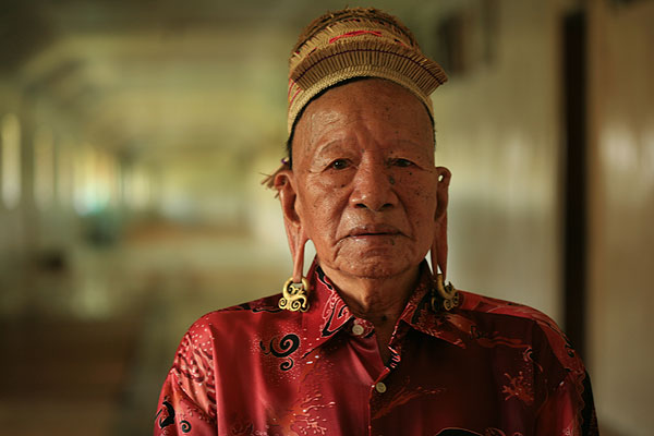 Belaan Ayu, one of the Dayak tribesmen who helped rescued the downed American airmen during WWII.