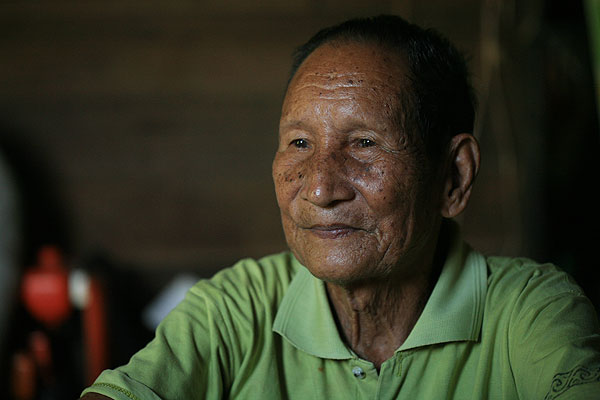 Malai Ruguk, one of the Dayak tribesmen who helped rescued the downed American airmen during WWII.