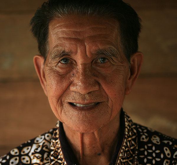 Belapang Baru, one of the Dayak tribesmen who helped rescued the downed American airmen during WWII