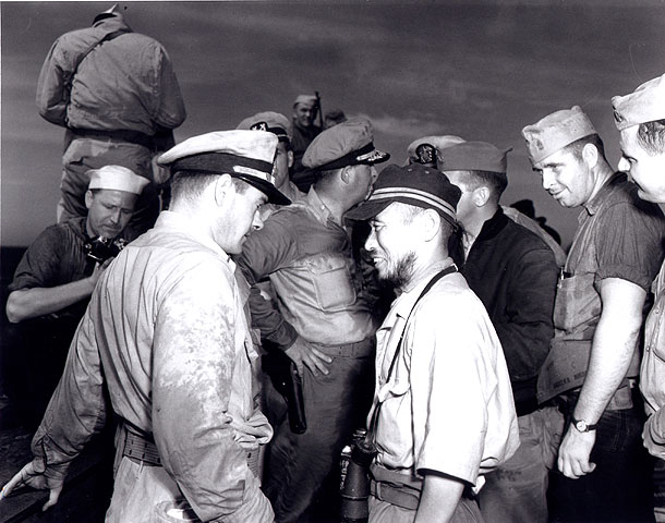U.S. Navy and Japanese officers and crew members had to learn to communicate to the operate the captured subs.
