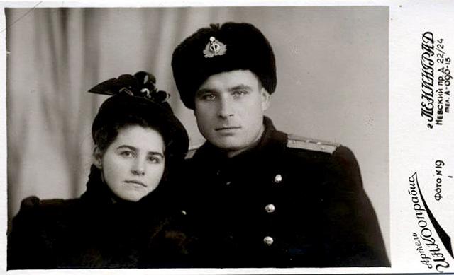 Vasili Arkhipov and wife Olga Arkhipova