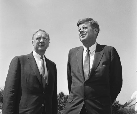 President John F. Kennedy and Walter Cronkite