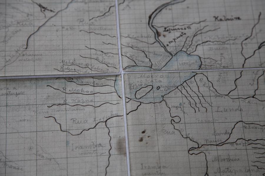 Livingstone's hand drawn map