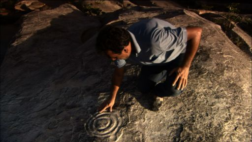 Clip |  Examining the petroglyphs on the Rock of the Ingá