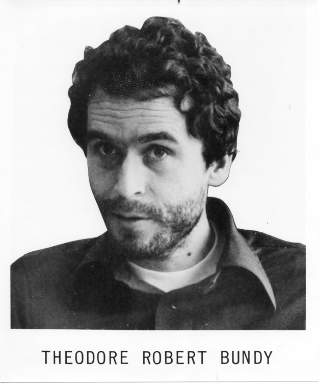 Ted Bundy's FBI photo when he was placed on the Ten Most Wanted Fugitives list, 1978. Date: 1975-1978 (Public domain)