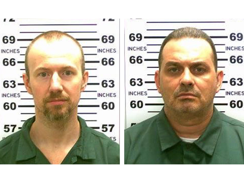 David Sweat (left) and Richard Matt, New York State Police