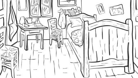 van goghs ear - Van Gogh Coloring Book