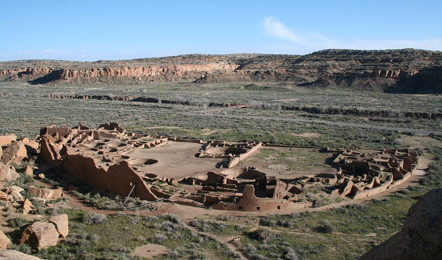 Pueblo Bonito, in Chaco Canyon, New Mexico. Credit: James Q. Jacobs