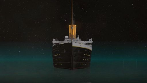 Abandoning the Titanic -- The Lookouts Spot the Iceberg