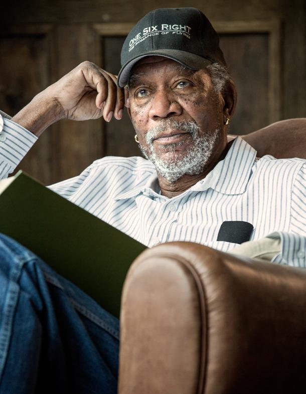 Morgan Freeman Sitting