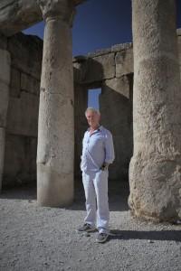 Simon Schama at Iraq-el Amir, Jordan