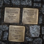 Gold inscribed cobblestones, Berlin, Germany