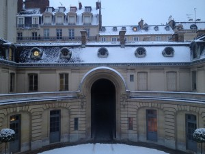 Courtyard of Musee Nissim de Camondo, Paris, France