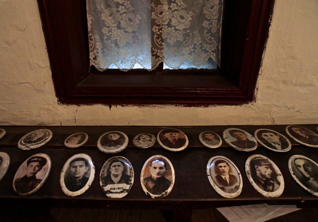 Portrait pictures of the deceased at Bershad, Ukraine