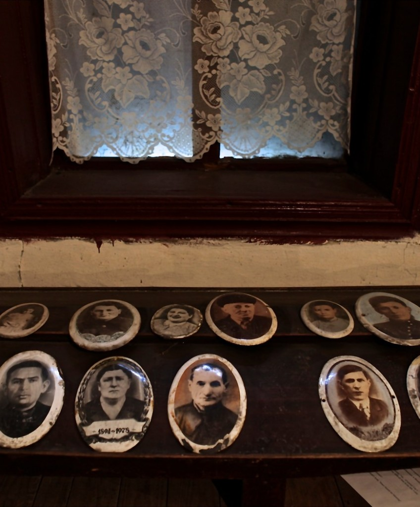 Portrait pictures of the deceased at Bershad, Ukraine