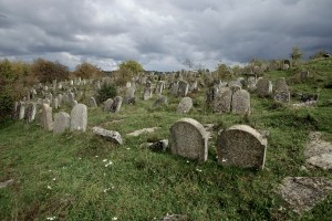 Tombstones in the cemetery, Satanov, Ukraine