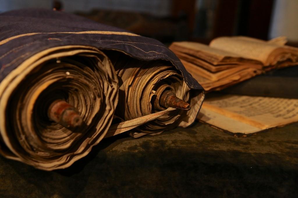 Old torah, sacred document of Judaism