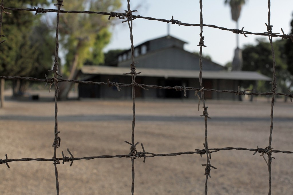 Atlit detention camp, Israel – seen through barbed wire
