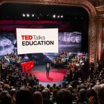 BAM's Harvey Theater interior and audience of TED Talks Education
