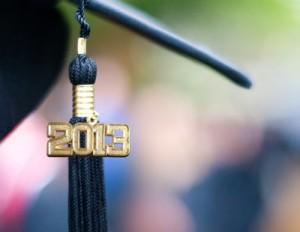A high school graduation cap for 2013