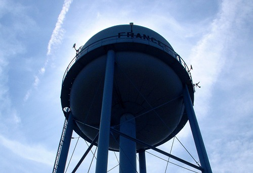 Watertower in Francesville, Indiana