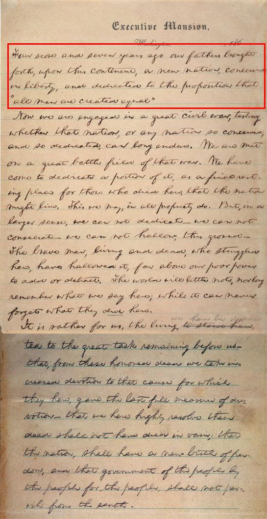 gettysburg address summary