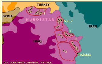 """Map View 3- The """"Anfal"""" Campaigns"""