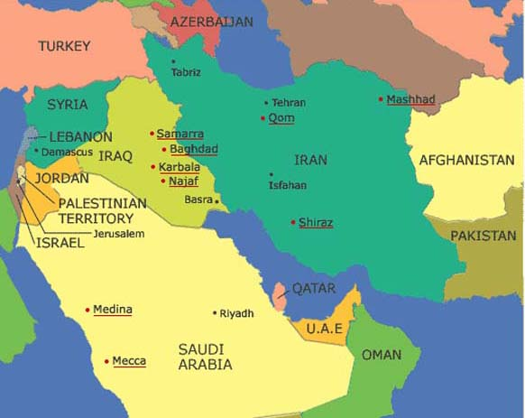 Red Lines and Deadlines Map 2 Sunni and Shia The Worlds of