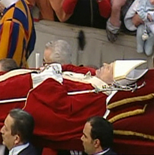 Procession with Pope's Body