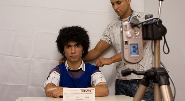 Student having his photo taken at the University of Brasilia