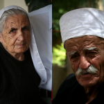 The Druze community is divided into two groups: the initiates, called <em>Uqqal</em> (the knowers or intelligent), and the uninitiated lay majority, or <em> Juhhal</em>  (ignorant). The <em> Uqqal</em>  make up about 20 percent of the Druze population. They participate in religious services and are able to learn the secret teachings of the Druze religious doctrine. As seen in these photos, <em> Uqqal</em>  women wear a loose white veil known as the <em> al-mandil</em>,  and men wear white turbans. The <em> Juhhal</em> typically wear Western clothes. While they are unfamiliar with the specifics of the Druze religious doctrine, they must be faithful to God, respect elders, and honor women.