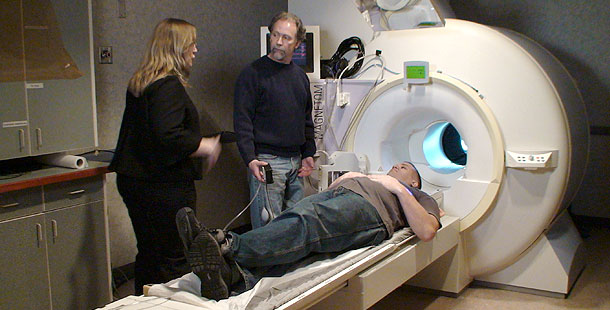 Volunteer in the MRI