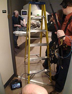 Filming in the Doorway