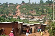 Rwandan village scene.