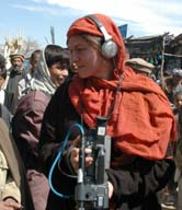 Photo of Polly Hyman, Field Producer in Afghanistan.