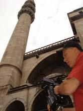 Producer and Director Jon Alpert at work filming Turkey