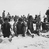 Captured soldiers with hands up